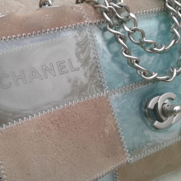 09079ab28fa03e CHANEL Bags | Leather Blue Vinyl Naked Patchwork 1999 | Poshmark